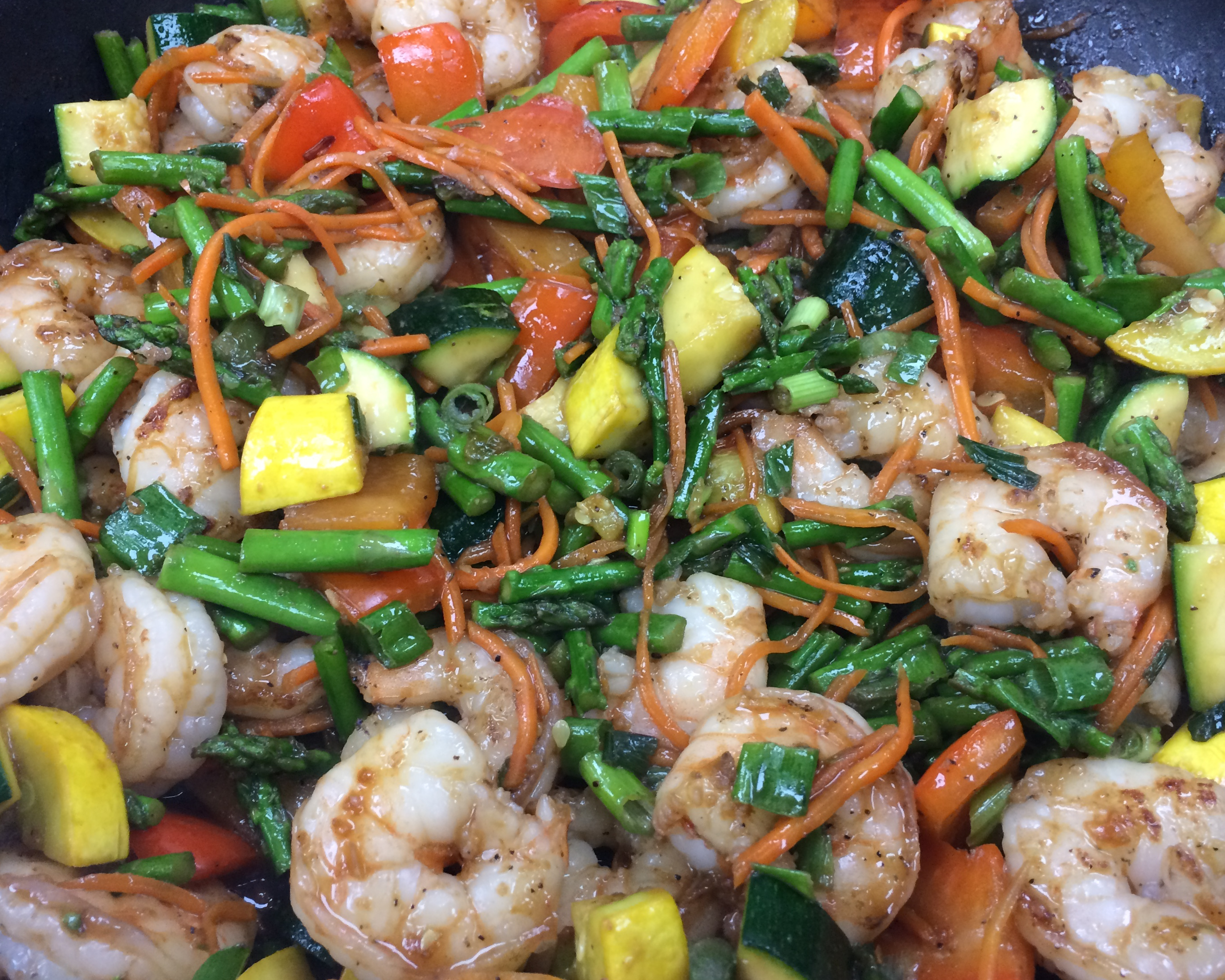 Shrimp and vegetable stir-fry